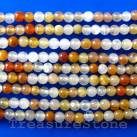 Bead, yellow agate, round, 2mm, 16-inch strand
